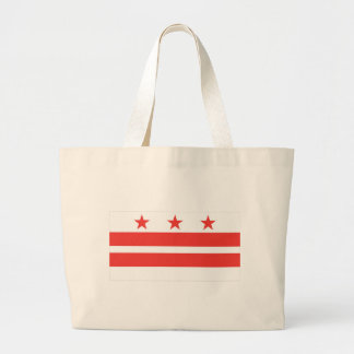 DC  Official State Flag Large Tote Bag