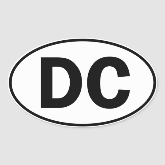 DC Oval ID Oval Sticker