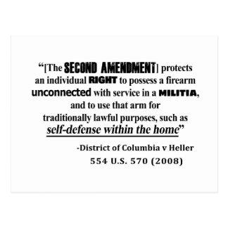 DC v Heller Second Amendment Case Law Postcard