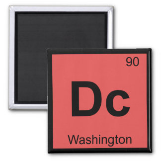 Dc - Washington Chemistry Periodic Table Symbol Square Magnet