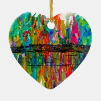 DCBurst Ceramic Heart Ornament