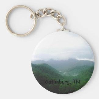 DCFC0075, Gatlinburg, TN Basic Round Button Keychain