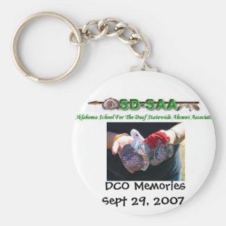 DCO Memories Sept 29, 2007 Basic Round Button Keychain