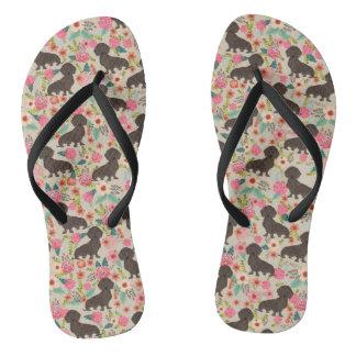 dd floral chocolate 1 flip flops
