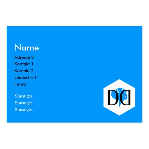 DD Great Dane Collection Business Cards