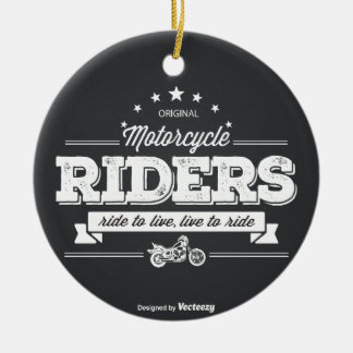 DD Motorcycle Riders T Shirt Design 76009.ai Ceramic Ornament