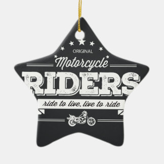 DD Motorcycle Riders T Shirt Design 76009.ai Ceramic Star Ornament