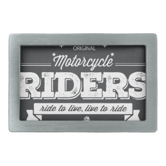 DD Motorcycle Riders T Shirt Design 76009.ai Rectangular Belt Buckle