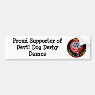 DDDD COMPLETED, Proud Supporter ofDevil Dog Der... Bumper Sticker
