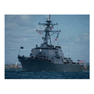 "DDG 52 ""Arleighe Burke"", first of new class aegis Postcard"