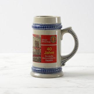 DDR east german 40 years Beer Stein