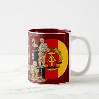 DDR East german Border Guard Two-Tone Coffee Mug