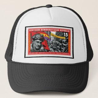 DDR stamp commemorating Hans Beimler Trucker Hat