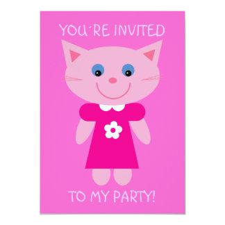 De bande dessinée de chat invitation mignon de