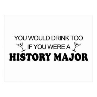 De boissons commandant d'histoire trop - carte postale