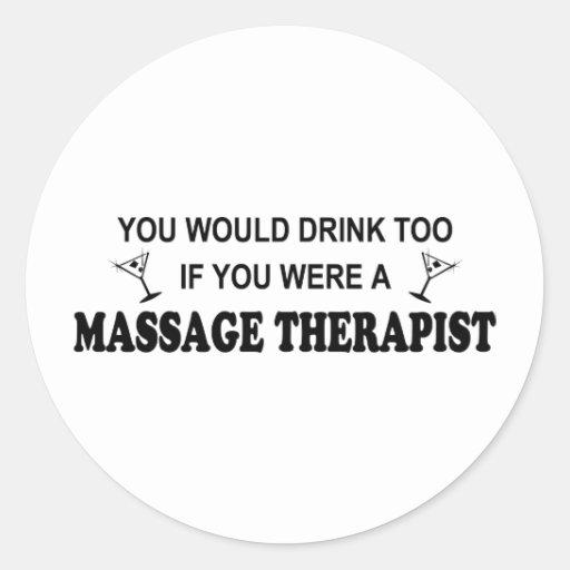 De boissons thérapeute de massage trop adhésifs