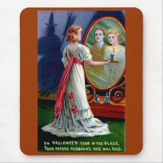 de carte de voeux de Halloween de début du 20ème Tapis De Souris