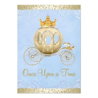De Cendrillon de bleu princesse Birthday il était Carton D'invitation 12,7 Cm X 17,78 Cm