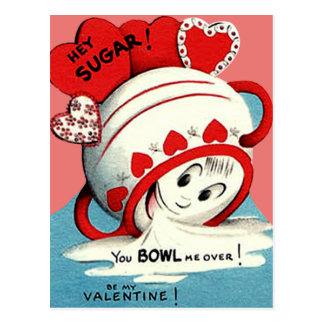 De coeur drôle mignon étrange Valentine de sucrier Cartes Postales