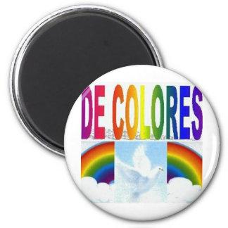 DE COLORES DOVE 2 INCH ROUND MAGNET