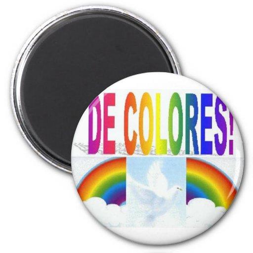 DE COLORES DOVE REFRIGERATOR MAGNET