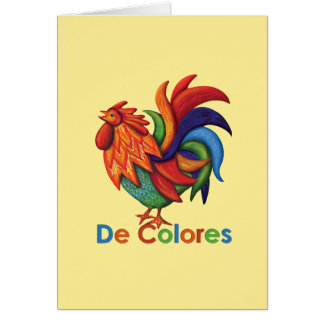 De Colores Greeting Card with Lyrics & Envelope