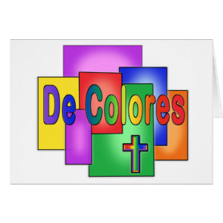 De Colores Rainbow Stained Glass Greeting Card