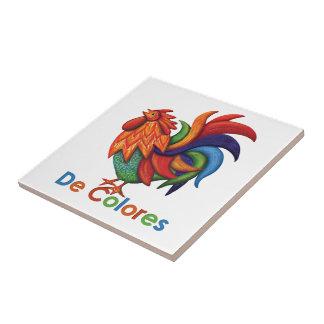 De Colores Rooster Gallo Ceramic Photo Tile