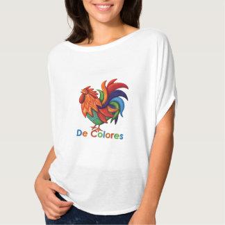 De Colores Rooster Gallo Women's Flowy Circle Top Tshirt