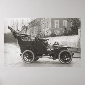 De Dion Bouton vintage car photo reproduction Poster