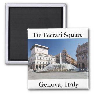 De Ferrari Square, Genoa, Italy Square Magnet