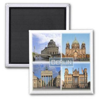 DE * Germany - - Berlin Square Magnet