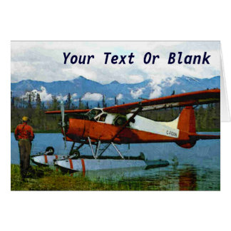 De Havilland Beaver Floatplane Card