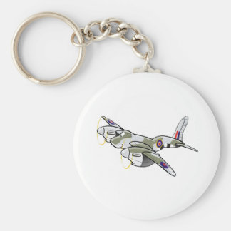 de havilland mosquito basic round button keychain