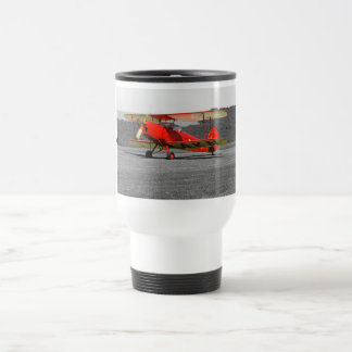 De Havilland Red Tigermoth Bi-Plane Travel Mug
