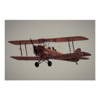 De Havilland Tiger Moth Poster
