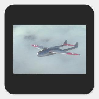 De Havilland Vampire. (vampire_Military Aircraft Square Sticker