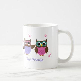 De hiboux de meilleurs amis tasses mignonnes pour