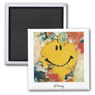 de kooning happy face magnet