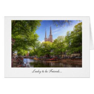 De Krijtberg, Amsterdam - Lucky to be Friends Card