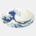"""""""De la grande peinture japonaise vague"""" par Hokusa Autocollants"""