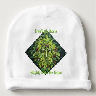 De la petite calotte de bébé d'homme vert de bonnet pour bébé