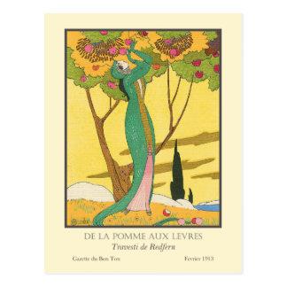 De la Pomme aux Levres by Charles Martin Postcard