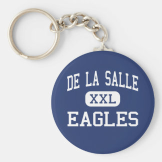 De La Salle Eagles Middle Saint Louis Basic Round Button Keychain