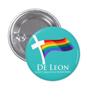 De Leon LGBT Christian Ministries Button (Teal)