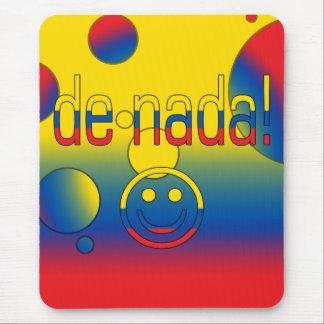 De Nada! Ecuador Flag Colors Pop Art Mouse Pad