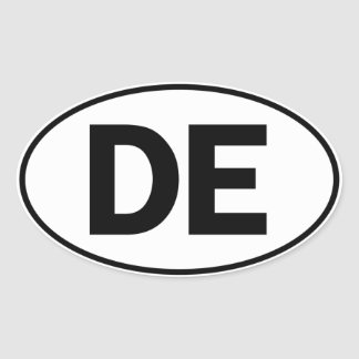 DE Oval Identity Sign Oval Sticker