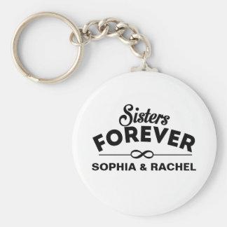 De soeurs modèle pour toujours porte-clé rond