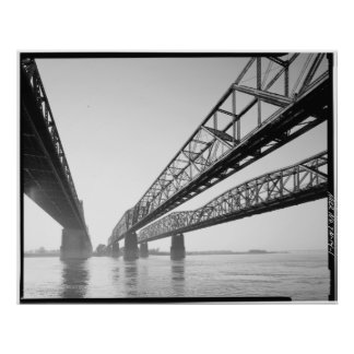 De Soto, Harahan & Memphis Bridges Poster