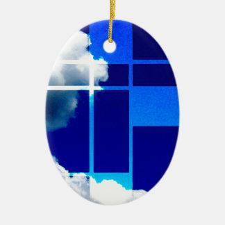 De Stijl Sky Ceramic Ornament
